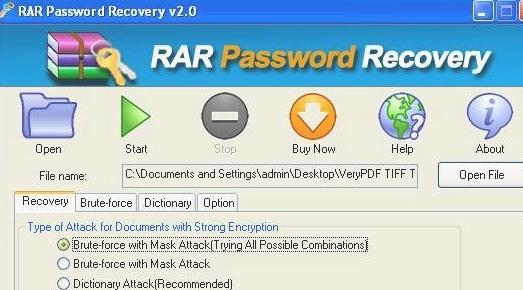 rar密码恢复工具(CrackPdf rar password recovery) v2.0