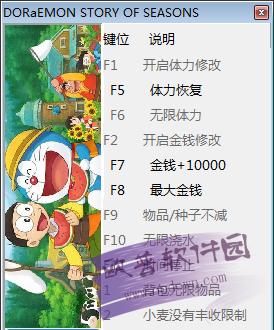 哆啦A梦:牧场物语十项修改器