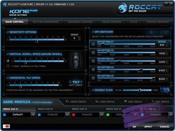 冰豹ROCCAT Kone Pure系列鼠标驱动 v1.93.11 最新版