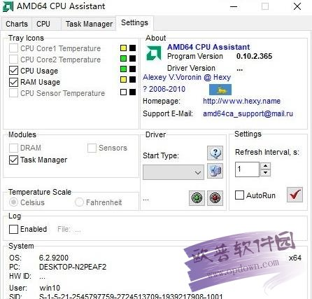 AMD CPU监控 v0.10.2.365